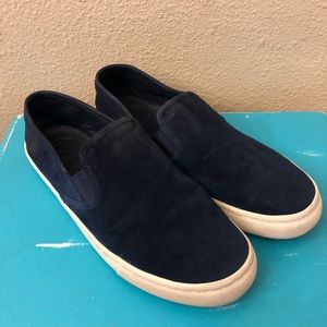 Tory Burch Max Slip On Navy Blue Suede Shoes 9